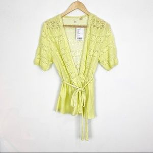Anthropologie | Knitted & Knotted Lace Peplum | L